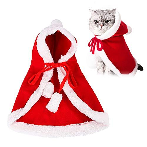WELLXUNK® Disfraces para Perros Y Gatos Navidad, Disfraz para Mascotas Navidad, Capa De Mascota Navidad, Ropa Mascotas Navidad, Usado para Fiesta De Cosplay De Navidad para Mascotas (M3)