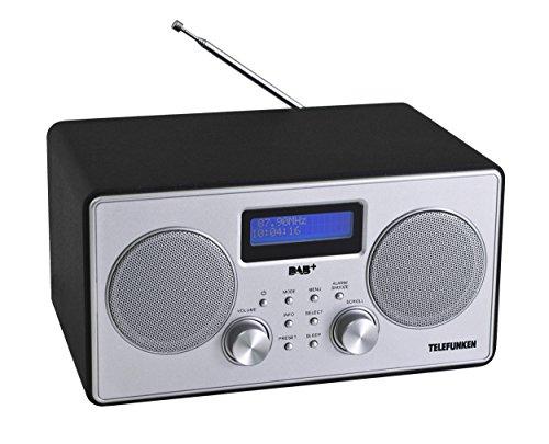 Telefunken RD1002 Digitalradio (PLL-Tuner, DAB+, UKW, Wecker, RDS, Batterie/Netzbetrieb) Silber/schwarz