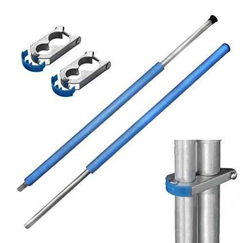 Baunsal GmbH & Co.KG Netzstange komplett für Sicherheitsnetz der Trampolin von 427 bis 430 cm
