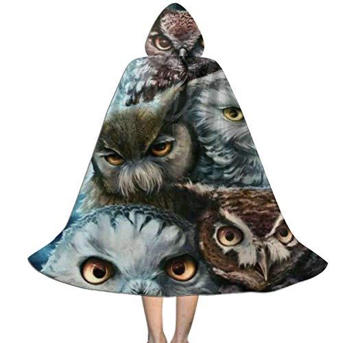 KDU Fashion Witch Cloak,Capa De Capa De Bruja para Nios con Bho Cornudo De Luna Nocturna, Capas De Bruja Creativas para Disfraces De Mago Cosplay,138cm
