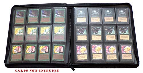 docsmagic.de Premium Pro-Player 12-Pocket Playset Zip-Album Black - 480 Card Binder - MTG - PKM - YGO - Reissverschluss Schwarz