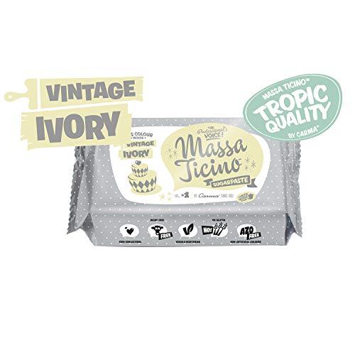 Barry Callebaut Massa Ticino Tropic Ivory | Elfenbein | Creme | Fondant | Rollfondant | 250g