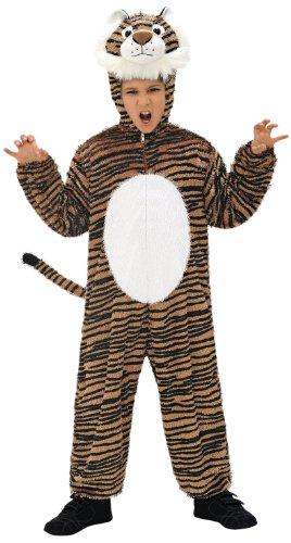 Widmann 9789N - Kinderkostüm Tiger, Overall mit Maske, Größe 134