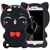 Mulafnxal Black Cat Case for iPod Touch 5 6 5th 6th,3D Soft Silicone Cases,Cute Cartoon Animal Fun Cover,Kawaii Character Unique Girls Kids Cool Protective Protector,Shockproof Rubber Shell for iPod65 portable speakers i phone Jan, 2021