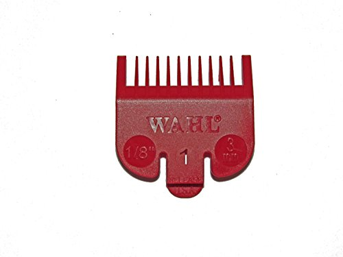 Wahl No.1 Attachment Comb 3mm (1/8) Cut Red - WAH31142001 by Wahl