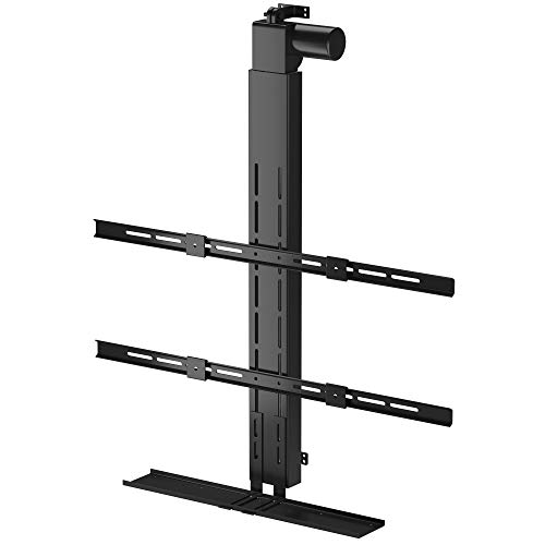 Hidden Drop Down TV Mount, Motorized TV Ceiling Lift for Up to 95' Screens. Lift Stroke 50'