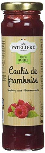 LA PATELIERE Coulis de Framboise 70% de Fruits 165 g - Lot de 3