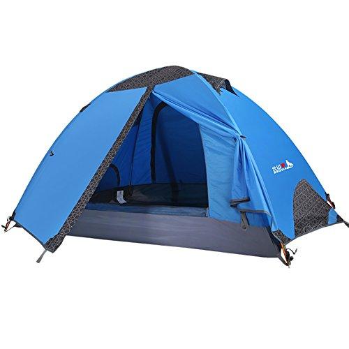 Outdoor-camping-Zelt für zwei Personen Zelt Reisende Paare Sturmsichere Zelt im Feld-Blau