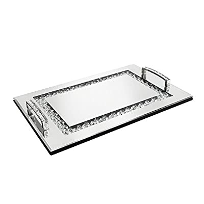 Mirrored Sparkling Tray for Ottomans