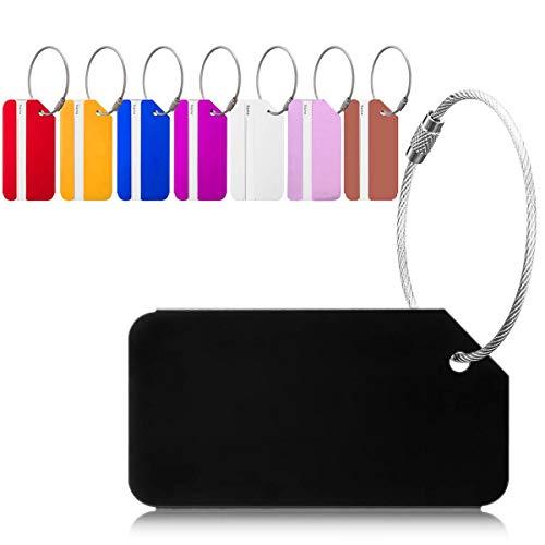 Viaggio bagagli Tag, 8 Pezzi Valigia bagagli Bag Tag Alluminio ID viaggio borsa Tag Etichette per Valigia Tag, Viaggio Holiday Deposito bagagli Tag-pe
