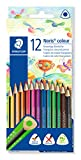 STAEDTLER 187 C12 Noris Colour Buntstift, erhöhte Bruchfestigkeit, Dreikantform, attraktives...