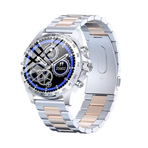KKZ LW09 Hombre Smart Watch IP68 Monitor de frecuencia cardíaca Impermeable a Prueba de Agua Pantalla táctil Completa Deportes Fitness Negocio Moda Estilo Reloj,B