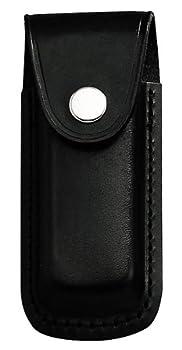 Étui Jowiha en cuir pour couteau doté d'un manche de 10 ou 12 centimètres, jwher26, noir, 11,13