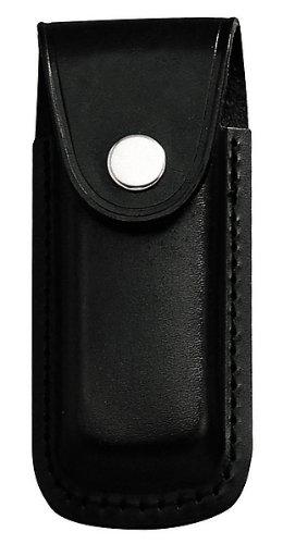 jowiha® Messer Etui aus Leder für 10 oder 12 Zentimeter Heftlänge in Schwarz oder Braun (Schwarz, 12 Zentimeter)