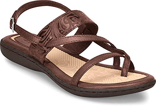 Price comparison product image b.o.c. Women's,  Sophina Low Heel Sandals Coffee Tooled 6 M