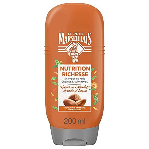 Le Petit Marseillais Après-Shampooing Nutrition Infusion Calendula et Argan Bio - Le flacon de 200 ml