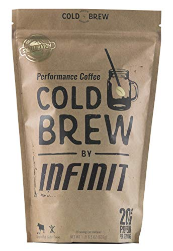 INFINIT Nutrition Cold Brew-Protein Packed Coffee, Low Sugar, High Protein Ready To Drink Coffee