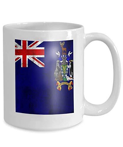 Taza de café personalizada 11 oz regalos de cerámica taza de té georgia del sur islas sándwich del sur rusty grunge flag georgia del sur islas sándwich del sur rusty