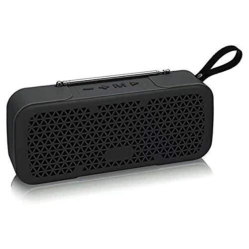 Zks Portable Radio, Bluetooth 4.0 Rétro Haut-Parleur Radio Haut-Parleur Stéréo avec Port USB Et AUX Port De Sortie pour Marche Randonnée Camping Walkman Pocket,Noir