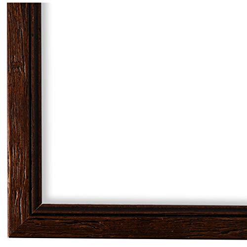Online Galerie Bingold Bilderrahmen Braun 40 x 50 cm 40x50 - Shabby, Vintage, Rustikal, Landhaus - Alle Größen - handgefertigt - WRF - Vasto 1,8