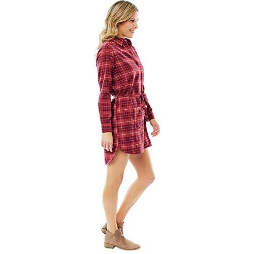 Carve Designs Creston Flanell-Kleid, groß, Sangria Plaid