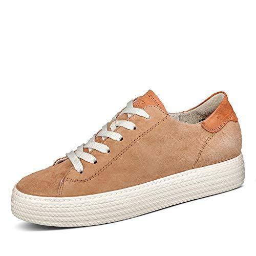 Paul Green Damen 5034 Sneaker low Uni ohne Absatz weich gepolstert Relax-Weite, Groesse 40, cognac