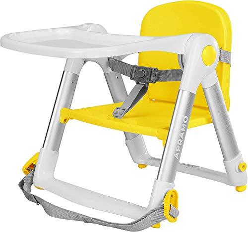 ベビーチェア テーブルチェア 折りたたみ式 子供 お食事椅子 離乳食 スマートローチェア 国際安全認証取得 軽量持ち運び快適 6ヶ月から3歳まで クッションカバー付 (黄)