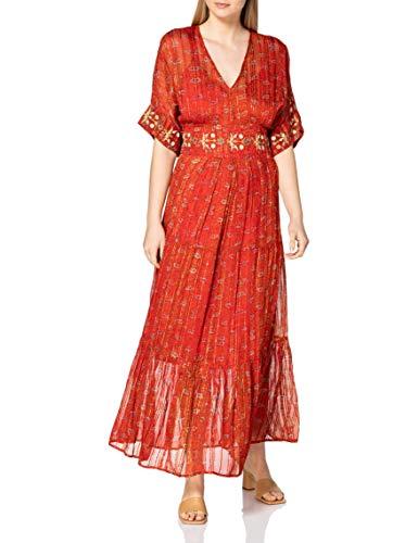 Desigual Vest_Portland Vestido Casual, Rojo, M para Mujer