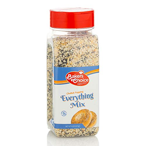 Everything Mix Challah Topping – Ingredient For Baking and Cooking – All Natural Food Seasoning and Spices – Kosher – 8 oz. - Baker's Choice