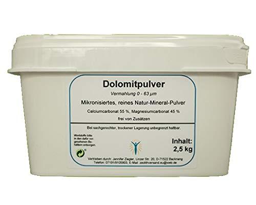 Dolomit Pulver ultrafein 2,5 kg für den großen Bedarf aus den Deutschen Alpen