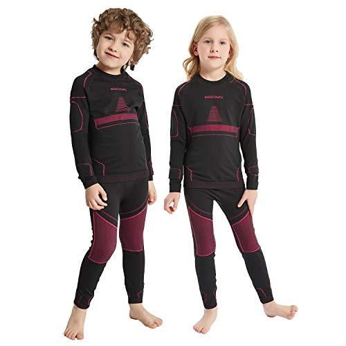 NOOYME Funktionsunterwäsche Kinder Skiunterwäsche Kinder Thermounterwäsche...