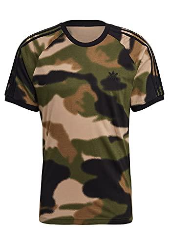 adidas GN1882 Camo AOP Cali T T-Shirt Mens Wild Pine/Multicolor/Black S