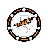Totalstickers3D - Protector adhesivo para tapones del depósito de gasolina, compatible con motocicletas KTM Duke 200GP-455 blanco