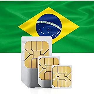 PREPAID Fast Mobile Data SIM-Card for Brazil with 12GB Valid for 30 Days to use in 71+ Countries. (12 GB for 30 Days)