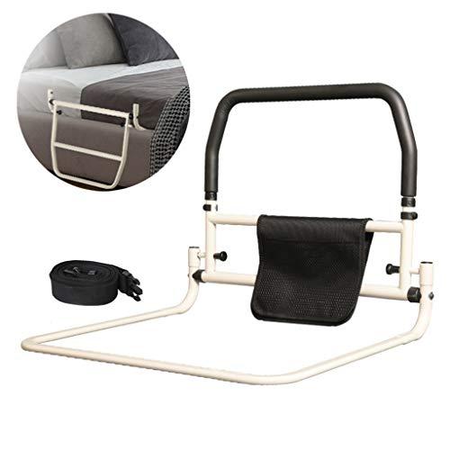 LHNLY-Handlauf Bettgitter haltegriff Bett zum aufstehen - Bettgitter für Erwachsene Senioren - Aufstehhilfe für Bett mit Lattenrost Bettgalgen Bettgeländer Einstiegshilfe Kann nach unten klappen