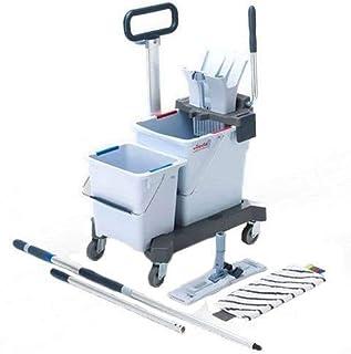 Chariot de nettoyage Vileda ultraspee DPRO Double Seau Ready Micro Châssis, 25& 10L Seau, Presse, nettoyage des sols, Mo...