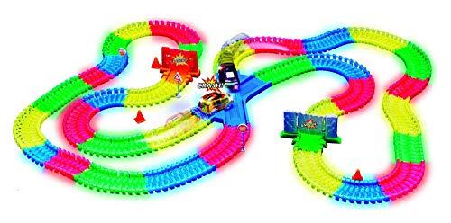 MAGIC TRACKS CRASH SET -  Circuit Lumineux de 3,35 mètres - spéciale CRASH - modulable et brillant dans le noir - Vu à la Télé