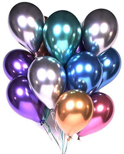 ROYEO Luftballons Bunt,50 Bunte Ballons Latex Helium,Luftballons für Kinder Geburtstag,Hochzeit Stäbe Party Gartenparty Sommerfest Halloween Weihnachten Geburtstags Party Hochzeits