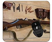 ゲームのマウスパッドの武器の銃器はステッチされた端が付いているマウスパッドを分けます