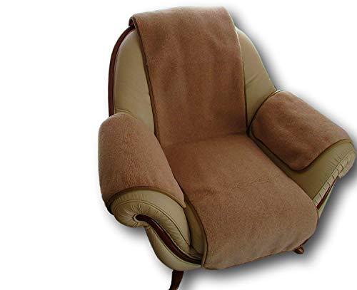 Sesselschoner 3 Teilig, Sesselauflage Überwurf, Alpacawolle 50x200, 2X 40x60