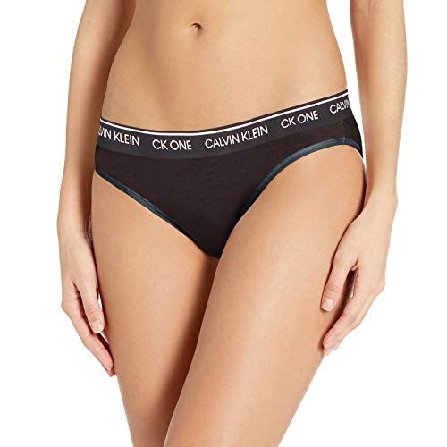 Calvin Klein Women's CK One Cotton Bikini Panty, Black, Medium