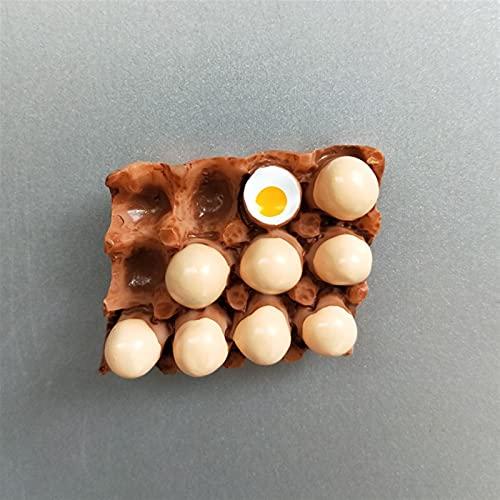 GHJGHJ Frigorífico Imanes De Frigorífico Frigorífico Pasta magnética Huevo Huevo Huevo Refrigerador Pasta Mensaje Imán (Color : Egg)
