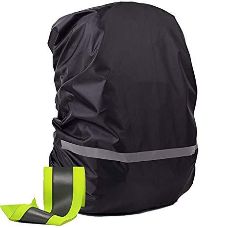 OOKOO - Funda impermeable y reflectante para mochila, Negro (Negro) - OOKOO-BAGCASE-BLACK-XS
