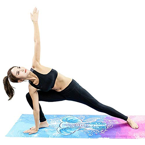 kldfig Yoga Mat Handdoekenhoes, opvouwbaar, antislip, draagbaar, gewatteerd yoga pilates paddeken, handdoekenhoezen voor fitness, gym, sportmatten, deken