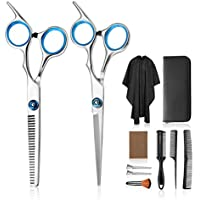 11-Piece Hocosy Professional Hair Cutting Scissors Set with Cutting & Thinning Scissors, Comb, Clips Cape Case