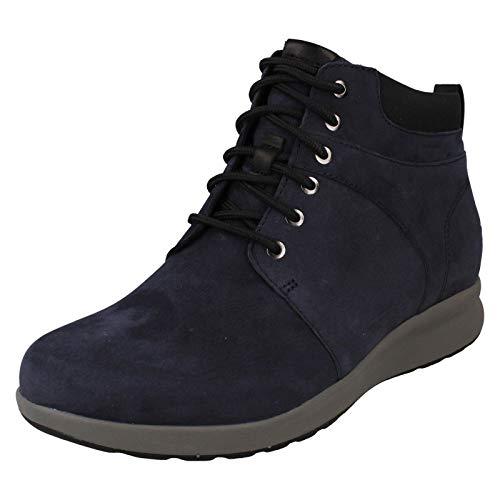 Clarks Un Adorn Walk, Damen Kurzschaft Stiefel, Blau (Navy Nubuck Navy Nubuck), 36 EU