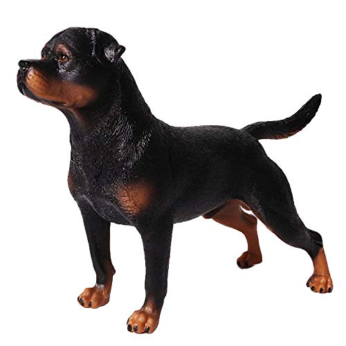 FLORMOON Rottweiler Figura - Realista Figuras Animales Figura Perro - Juguetes educativos tempranos Proyecto de Ciencias Navidad Cumpleaños niños y niñas