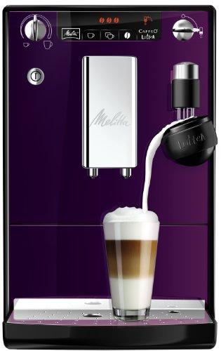 Melitta Kaffeevollautomat Caffeo LatteA, Milchdusche, Aromaeinstellung, E 955-101 schwarz-lila