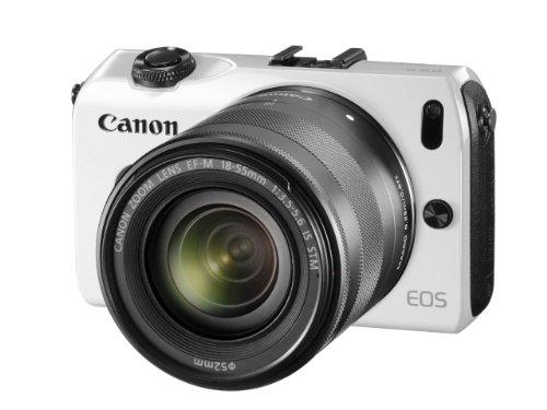 Canon ミラーレス一眼カメラ EOS M ダブルレンズキット EF-M18-55mm F3.5-5.6 IS STM/EF-M22mm F2 STM付属 ホワイト EOSMWH-WLK - キヤノン