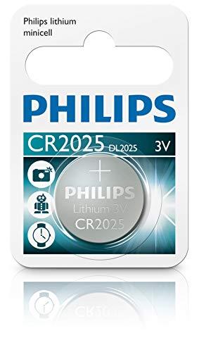 Philips CR2025/01b - Pila de botón de litio (Paquete de 1)